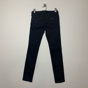 Hudson Black Collin Flap Pocket Skinny Jeans